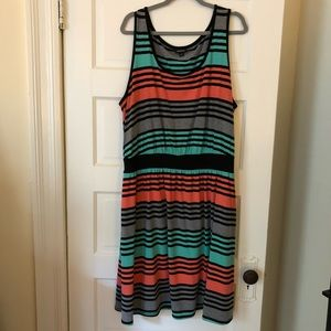Striped Torrid jersey dress with pockets